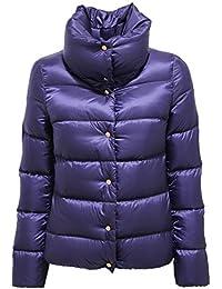 9351U piumino donna MONCLER BOURDON violet jacket woman