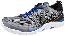 Fila Mens Legend Grey, Black and Blue Running Shoes -8 UK/India (42 EU)