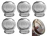 GMMH Copas de Catación Ventosas XXL ø 7,5 cm (6 Piezas)
