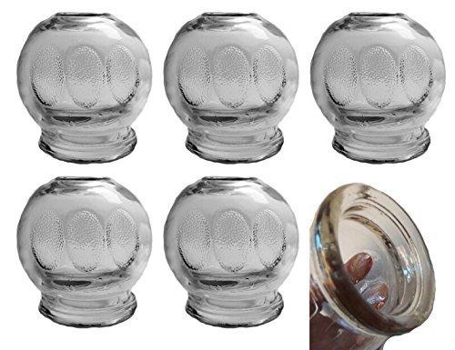 Verre à ventouse XXL, ø 7,5 cm 6 pièces Verre à ventouses (ventouses) Vide massage Nouveau