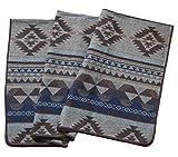 Ruth&Boaz Outdoor Decke aus Wollmischgewebe mit ethnischem Inka Muster (L) (braun, 60