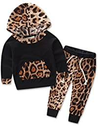 SAMGU Bébé Filles vêtements Nouveau née Bébé Encapuchonné Sweat-shirt Hauts + Ensemble de vêtements pour pantalons