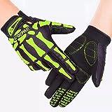Fahrrad Handschuhe Gel Fahrradhandschuhe Sporthandschueh Gloves QE7507 Grün (S)