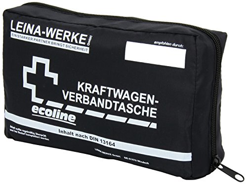 Leina-Werke 11039 KFZ-Verbandtasche Compact Ecoline mit Klett, 1-Farbig Sortiert