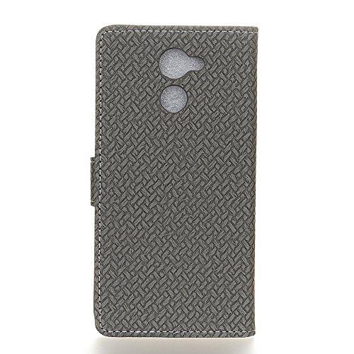 COVO   PU TPU Faux Cuero Billetera Funda para Vodafone Smart N8 con Stand Funci  n Gris