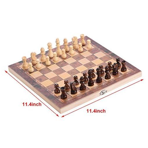 Dilwe-Holz-Travel-Chess-Board-3-in-1-Qualitt-Tragbare-Faltbar-Schachbrett-mit-Bequemer-Schachfiguren-fr-Familie-Outdoor-Schach-Spiel