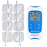 Tenscare Perfect Tens - Kit de electroestimulacion, paquete de 12 electrodos, color blanco y azul