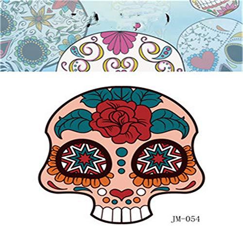 Respetuoso del Medio Ambiente Impermeable Fiesta Etiqueta engomada del Tatuaje de Halloween Shantou Divertido niño Adulto Etiqueta de la Cara de Horror 39 6x8.5 cm