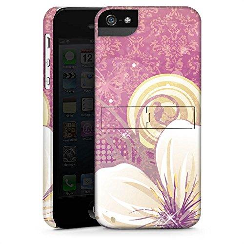 Apple iPhone X Silikon Hülle Case Schutzhülle Blüten Blumen Ornamente Premium Case StandUp
