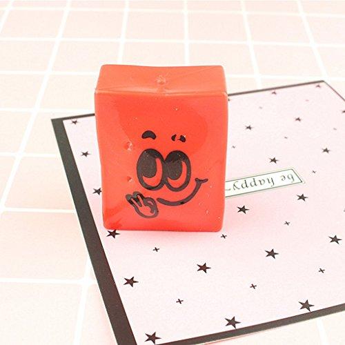 Topker Pastel de tofu blando cara de la sonrisa Sueeze juguete del regalo del cabrito Pan antiestrés broma del friki Alivio Gadget