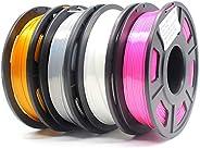 Amazon Brand-Eono Filament PLA pour imprimante 3D,couleur effet soie, idéal pour impression d'éléments décorat