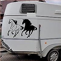 2 gallopierende Pferde Modell 1 Aufkleber Anhänger Pferd Anhänger ca. 60x80cm
