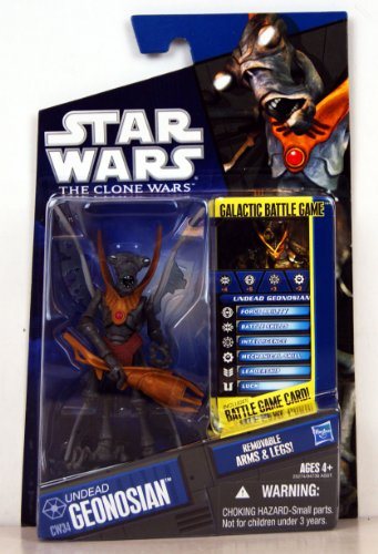 Star Wars - 25274 - The Clone Wars - Galactic Battle Game - Action Figur - CW34 - Undead Geonosian (ca. 10 cm / 3 3/4
