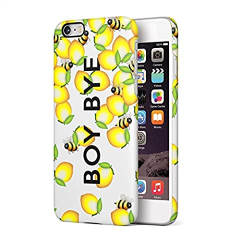 Boy Bye Cute Bumblebees & Lemons Hard Thin Plastic Phone Case Cover For iPhone 6 & iPhone 6s