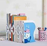 ADM-LC:Regolabile.metallo libreria, estensione libro rack, regolabili fermalibri, file titolare, tre sezioni, il modello è di tre belle gatti, a casa o in ufficio.