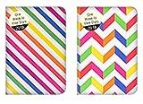 1 agenda 2018, tascabile, con visualizzazione settimanale, design ad arcobaleno con colori assortiti