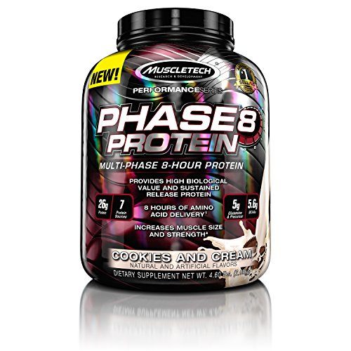 Muscletech Phase 8 US Multi Stage Protein Shakes, Cookies and Cream, 2kg - 515UxxRQzzL