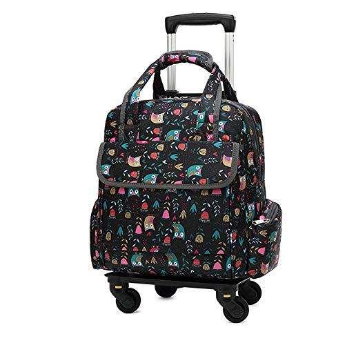 Multifunktions-Trolley-Rucksack/Handtasche zum Bedrucken des wasserdichten Reiserollentrolley-Rucksacks von Oxford für 14-Zoll-Laptops mit abnehmbarem Trolley-4