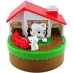 Robar monedas del ratón del gato de la moneda hucha caja de ahorro del cabrito del niño del regalo de