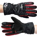 Herren Sport Sommer Winter Vollfinger Handschuhe Blau Rot Schwarz Handschuhe