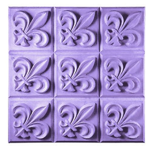 Fleur De Lis Soap Mold (MW 12) -  Milky Way. Melt & Pour, Cold Process w/ Exclusive Copyrighted Full Color Cybrtrayd Soap Molding Instructions in a Sealed Poly Bag