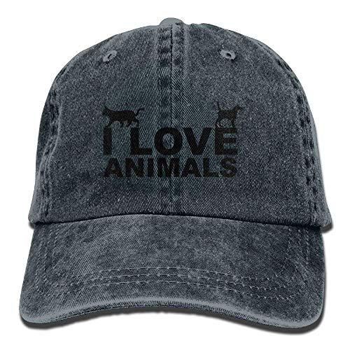 I Love Dog Animals Denim Hat Adjustable Men Tactical Baseball Hats