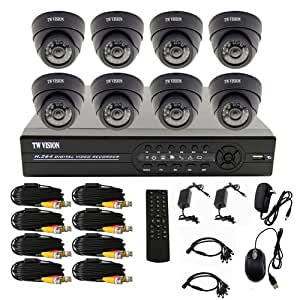 Security System Pack With HD CCTV 4 Pairs Of 1000 TVL Sampix Bullet Cameras + Heavy Metal Power Supply + 4 Channel HDMI Port DVR + 160 GB Original WD Hard Disk + 4 Audio Mic Monitor For CCTV Camera And Pure solid copper Wire