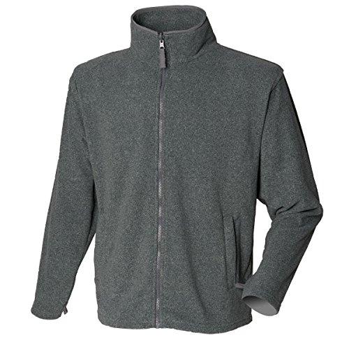 New hendury Pull en Micropolaire pour Femme Fermeture Éclair intégrale Coque Casual Polyester Vestes Haut - Gris - XL