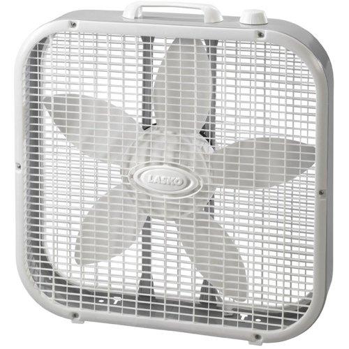 """Lasko 20"""" Box Fan, Blanco - Ventilador"""