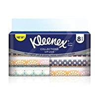 Kleenex Collection Soft-Pack Facial Tissues - Pack of 8 Pouches (8x100 Sheets x2 Ply)