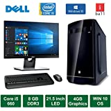 "Desktop PC - Intel Core I5 660 Processor / DELL 21.5"" LED Monitor / Windows 10 Pro / DVD / WiFi / 500GB HDD / 4GB Graphics"
