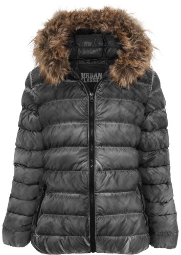 Urban Classics Damen Spray Dye Winter Jacke schwarz