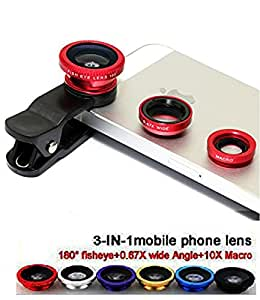 VOLTAC ™` Universal Clip Type 3 in 1 Fish eye, Wide Angle & Macro Lens for All Android/Smartphones Pattern #219882
