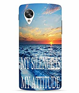 Snazzy Printed Multicolor Hard Back Cover For LG Google Nexus 5