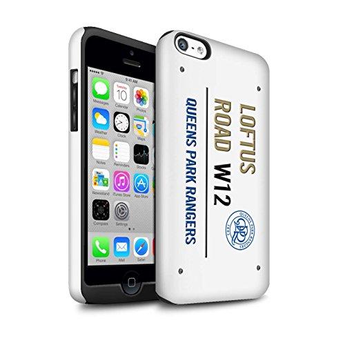 Offiziell Queens Park Rangers FC Hülle / Glanz Harten Stoßfest Case für Apple iPhone 5C / Pack 8pcs Muster / QPR Loftus Road Zeichen Kollektion Weiß/Gold