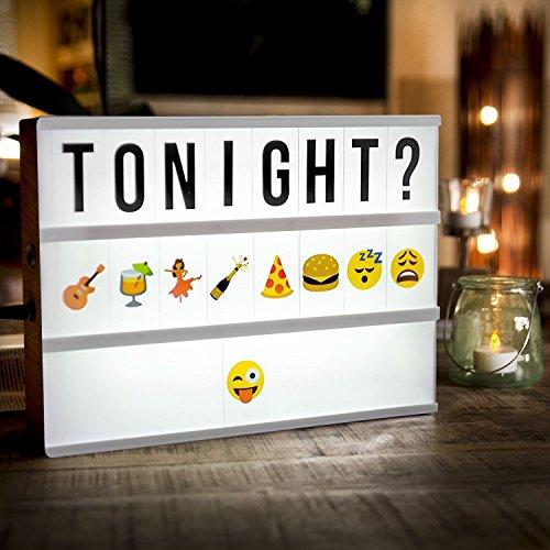 k Light Box Leuchtkasten Mit 189 Flexiblen Buchstaben Symbole Zahlen Und Bunten Emojis Kino Box Beleuchtung Boxen Für Geburtstag, Jubiläum, Hochzeit, Geschäft Dekoration Light-box (Kino Drucken)
