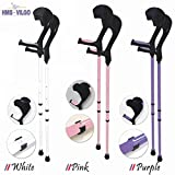 Vilgo Modern Non-Slip Adjustable Pastel Crutches (Pink)