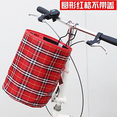 FAN4ZAME Fahrrad Korb Mountainbike Wasserdichten Plane Falten Korb Batterie Elektrofahrzeug Vordere Abdeckung Hängenden Korb A