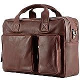 'Lima' Echt Leder Messenger bag Business Tasche Aktentasche Handtasche...