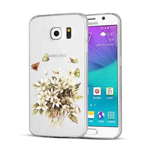 Coque Samsung Galaxy S6/S6 edge/S6 edge plus Wouier® Coloré Fruit Crystal Clear Souple TPU Silicone Coque pour Samsung Galaxy S6/S6 edge/S6 edge plus 5