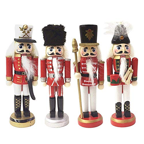 9af522753674 CWeep Wooden Nutcracker Ornaments Set, Nutcracker Theme Christmas Tree  Hanging Decorations Figures Puppet Toys Gift