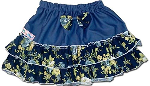 100-Cotton-Baby-RaRa-Skirt-Blue-With-Blue-Floral-Print