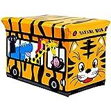 Kinder Schränke Toy Box Sitzbank Gepolsterte Safari Bus Kinderspiel Kommode