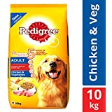 Pedigree Adult Dry Dog Food, Chicken & Vegetables, 10 kg Pack