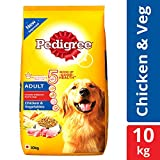 #8: Pedigree Dry Dog Food, Chicken & Vegetables for Adult Dogs – 10 kg