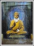 Póster de dibujo de Banksy (Buddha Dripping), 60cm x 80cm, papel pintado autoadhesivo reposicionable