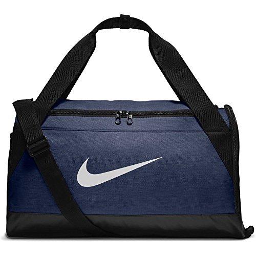Nike Brsla Duff Bolsa, Adultos Unisex, Azul (Navy) / Negro, S