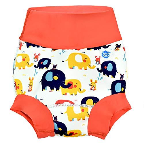 Neue Splash (Splash About Unisex-Baby Neue Und Verbesserte Happy Nappy Windel Schwimmen Kinder New Improved, Little Elephants, 3-6 Monate)