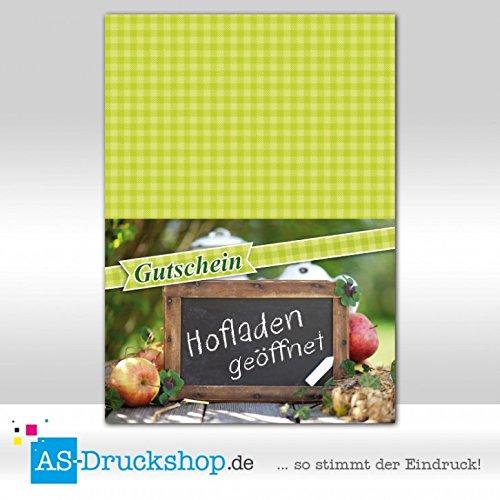 Gutschein Hofladen – Äpfel / 25 Stück/DIN A6