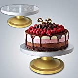 Kurtzy Cake Rotating Turntable Stand with Heavy Aluminium Base for Decorating and Icing